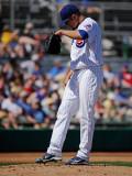 Kansas City Royals v Chicago Cubs, MESA, AZ - MARCH 09: Matt Garza Photographic Print by Kevork Djansezian
