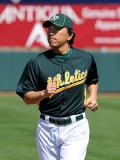 Texas Rangers v Oakland Athletics, PHOENIX, AZ - MARCH 04: Hideki Matsui Photographic Print by Norm Hall