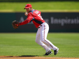 Florida Marlins v Washington Nationals, VIERA, FL - MARCH 02: Alex Cora Photographic Print by Mike Ehrmann