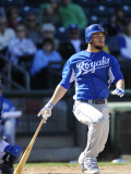 Kansas City Royals v Texas Rangers, SURPISE, AZ - FEBRUARY 27: Eric Hosmer Photographic Print by Rob Tringali