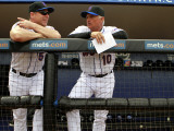 Atlanta Braves v New York Mets, PORT ST. LUCIE, FL - FEBRUARY 26: terry Collins and David Wright Photographic Print by Marc Serota