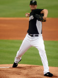 St. Louis Cardinals v Florida Marlins, JUPITER, FL - MARCH 06: Chris Volstad Photographic Print by Marc Serota