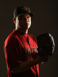 Houston Astros Photo Day, KISSIMMEE, FL - FEBRUARY 24: Wandy Rodriguez Photographic Print by Al Bello