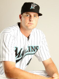 Florida Marlins Photo Day, JUPITER, FL - FEBRUARY 23: Chris Volstan Photographic Print by Mike Ehrmann