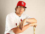 St. Louis Cardinals Photo Day, JUPITER, FL - FEBRUARY 24: Colby Rasmus Photographic Print by Mike Ehrmann