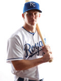 Kansas City Royals Photo Day, SURPRISE, AZ - FEBRUARY 23: Chris Getz Photographic Print by Jonathan Ferrey