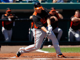 Baltimore Orioles v Pittsburgh Pirates, BRADENTON, FL - FEBRUARY 28: Mark Reynolds Photographic Print by J. Meric