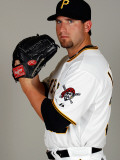 Pittsburgh Pirates Photo Day, BRADENTON, FL - FEBRUARY 20: Brad Lincoln Photographic Print by J. Meric