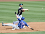 Texas Rangers v Seattle Mariners, PEORIA, AZ - MARCH 01: Jack Wilson and Taylor Teagarden Photographic Print by Harry How