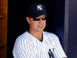 Philadelphia Phillies v New York Yankees, TAMPA, FL - FEBRUARY 26: Tino Martinez Photographic Print by J. Meric