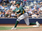 Oakland Athletics v San Diego Padres, PEORIA, AZ - MARCH 06: Joe Bateman Photographic Print by Christian Petersen