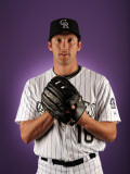 Colorado Rockies Photo Day, SCOTTSDALE, AZ - FEBRUARY 24: Huston Street Photographie par Harry How