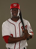 Washington Nationals Photo Day, VIERA, FL - FEBRUARY 25: Roger Bernadina Photographic Print by Al Bello