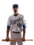 Kansas City Royals Photo Day, SURPRISE, AZ - FEBRUARY 23: Jason Kendall Photographic Print by Jonathan Ferrey