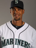 Seattle Mariners Photo Day, PEORIA, AZ - FEBRUARY 20: Franklin Gutierrez Photographic Print by Ezra Shaw