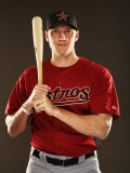 Houston Astros Photo Day, KISSIMMEE, FL - FEBRUARY 24: Hunter Pence Photographic Print by Al Bello