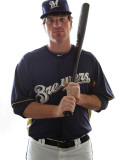 Milwaukee Brewers Photo Day, MARYVALE, AZ - FEBRUARY 24: Mat Gamel Photographic Print by Jonathan Ferrey