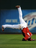 Los Angeles Dodgers v Cincinnati Reds, GOODYEAR, AZ - MARCH 03: Brandon Phillips Photographic Print by Norm Hall