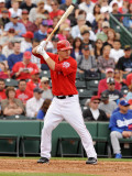 Los Angeles Dodgers v Los Angeles Angels of Anaheim, TEMPE, AZ - FEBRUARY 26: Mike Trout Photographic Print by Norm Hall