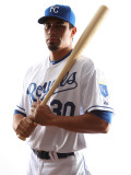 Kansas City Royals Photo Day, SURPRISE, AZ - FEBRUARY 23: Kila Ka'aihue Photographic Print by Jonathan Ferrey