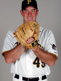 Pittsburgh Pirates Photo Day, BRADENTON, FL - FEBRUARY 20: Ross Ohlendorf Photographic Print by J. Meric