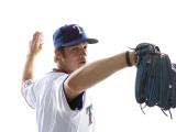 Texas Rangers Photo Day, SURPRISE, AZ - FEBRUARY 25: C. J. Wilson Photographic Print by Jonathan Ferrey