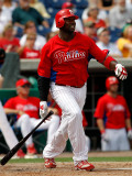 Tampa Bay Rays v Philadelphia Phillies, CLEARWATER, FL - MARCH 06: Ryan Howard Photographic Print by J. Meric