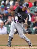 Colorado Rockies v Arizona Diamondbacks, SCOTTSDALE, AZ - FEBRUARY 26: Carlos Gonzalez Photographic Print by Jonathan Ferrey