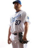 Kansas City Royals Photo Day, SURPRISE, AZ - FEBRUARY 23: Sean O'Sullivan Photographic Print by Jonathan Ferrey