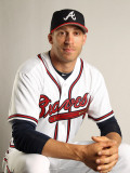 Atlanta Braves Photo Day, LAKE BUENA VISTA, FL - FEBRUARY 21: Joe Mather Photographic Print by Mike Ehrmann