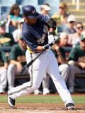 Oakland Athletics v Milwaukee Brewers, PHOENIX, AZ - MARCH 03: Carlos Gomez Photographic Print by Christian Petersen