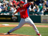 Philadelphia Phillies v Pittsburgh Pirates, BRADENTON, FL - MARCH 12: Vance Worley Photographic Print by J. Meric