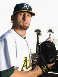 Oakland Athletics Photo Day, PHOENIX, AZ - FEBRUARY 24: Dallas Braden Photographic Print by Ezra Shaw