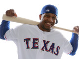 Texas Rangers Photo Day, SURPRISE, AZ - FEBRUARY 25: Julio Borbon Photographic Print by Jonathan Ferrey