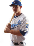 Kansas City Royals Photo Day, SURPRISE, AZ - FEBRUARY 23: Johnny Giavotella Photographic Print by Jonathan Ferrey