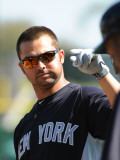 New York Yankees v Philadelphia Phillies, CLEARWATER, FL - FEBRUARY 27: Nick Swisher Photographic Print by Al Messerschmidt
