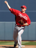 Cincinnati Reds v Seattle Mariners, PEORIA, AZ - MARCH 04: Chad Reineke Photographic Print by Christian Petersen