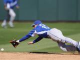 Kansas City Royals v Texas Rangers, SURPISE, AZ - FEBRUARY 27: Chris Getz Photographic Print by Rob Tringali
