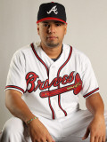 Atlanta Braves Photo Day, LAKE BUENA VISTA, FL - FEBRUARY 21: Jose Ortegano Photographic Print by Mike Ehrmann
