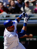 Kansas City Royals v Chicago Cubs, MESA, AZ - MARCH 09: Aramis Ramirez Photographic Print by Kevork Djansezian