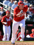 Cleveland Indians v Cincinnati Reds, GOODYEAR, AZ - FEBRUARY 28: Ryan Hanigan Photographic Print by Norm Hall