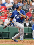 Los Angeles Dodgers v Los Angeles Angels of Anaheim, TEMPE, AZ - FEBRUARY 26: Andre Ethier Photographie par Norm Hall