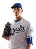 Kansas City Royals Photo Day, SURPRISE, AZ - FEBRUARY 23: Mike Montgomery Photographic Print by Jonathan Ferrey