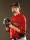 Houston Astros Photo Day, KISSIMMEE, FL - FEBRUARY 24: Brandon Lyon Photographic Print by Al Bello