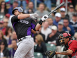 Colorado Rockies v Arizona Diamondbacks, SCOTTSDALE, AZ - FEBRUARY 26: Chris Iannetta Photographic Print by Jonathan Ferrey