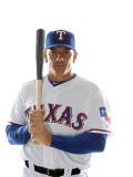 Texas Rangers Photo Day, SURPRISE, AZ - FEBRUARY 25: Matt Treanor Photographic Print by Jonathan Ferrey