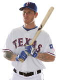 Texas Rangers Photo Day, SURPRISE, AZ - FEBRUARY 25: Josh Hamilton Photographic Print by Jonathan Ferrey