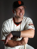 San Francisco Giants Photo Day, SCOTTSDALE, AZ - FEBRUARY 23: Buster Posey Photographic Print by Ezra Shaw