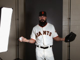 San Francisco Giants Photo Day, SCOTTSDALE, AZ - FEBRUARY 23: Brian Wilson Photographic Print by Ezra Shaw
