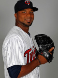 Minnesota Twins Photo Day, FORT MYERS, FL - FEBRUARY 25: Francisco Liriano Photographic Print by J. Meric